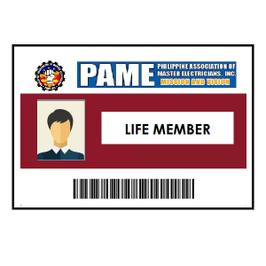 Life PAME Membership <br> + ID & Certificate (₱250) <br> Qualification: must be a RME licensed electrical practitioner only