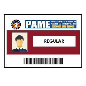 Regular PAME Membership <br> + ID & Certificate (₱250) <br> Qualification: must be a RME licensed electrical practitioner only
